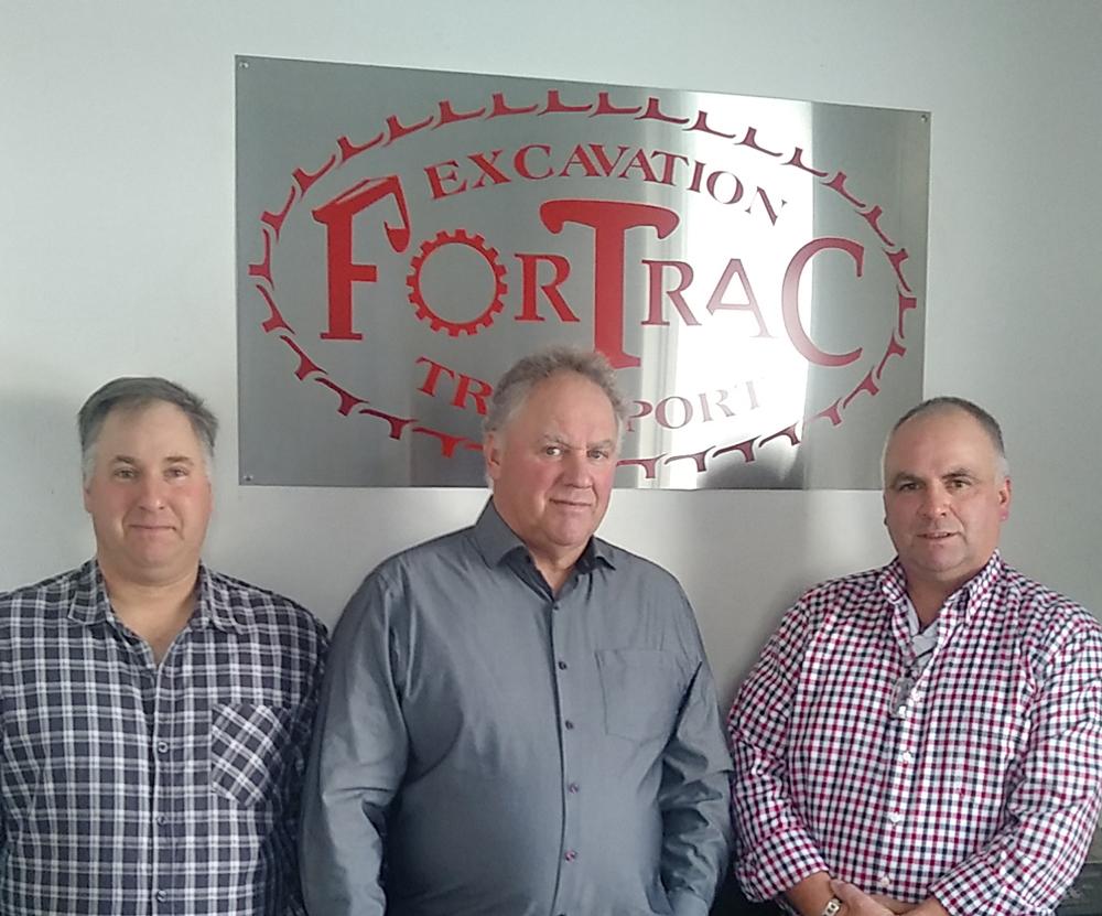 Christian, Onil et Serge fortin de l'entreprise Fortrac
